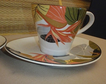 Vintage Set of 2 Maui  Cup and Saucers By Sango China