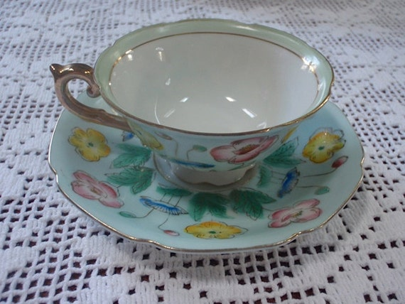 Price Reduced 7.00 --  Vintage Cup And Saucer  Beautiful