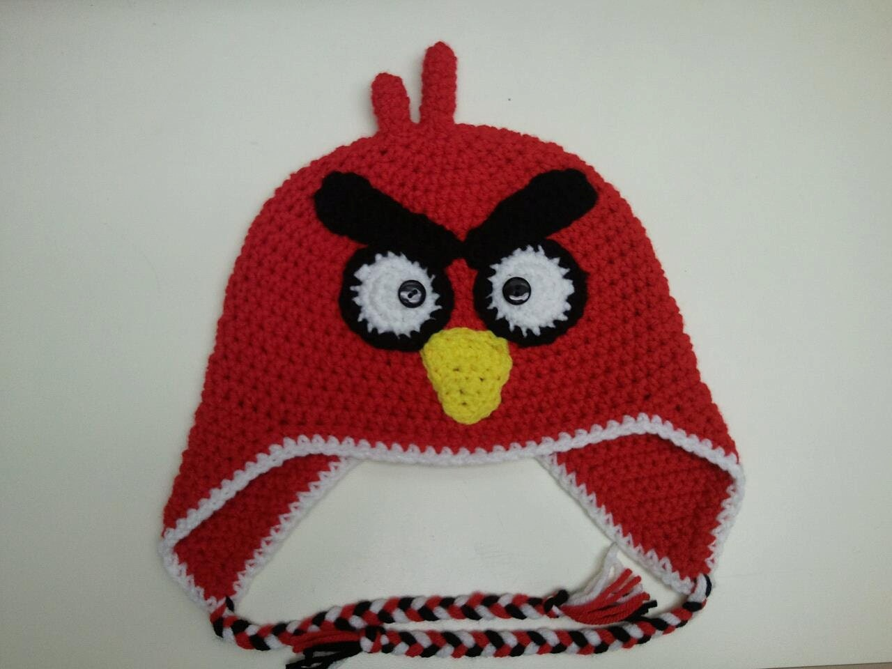 Crochet Hat Pattern Angry Bird : Items similar to Red Bird Crochet Hat (Newborn to Adult ...