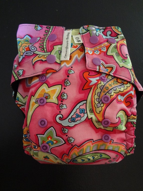 cute paisley pocket diaper