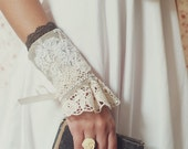Looking for TENDERNESS - 8 Victorian Vintage Cuff Bracelets Romantic Fabric Lace