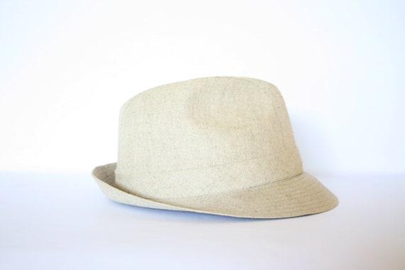 Vintage Beige Men's Fedora Hat