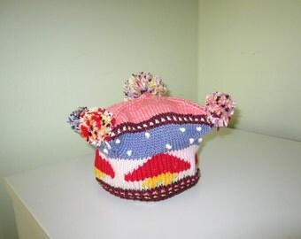 Knitted  mushroom baret