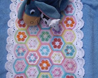 Granny Square Blanket American girl doll