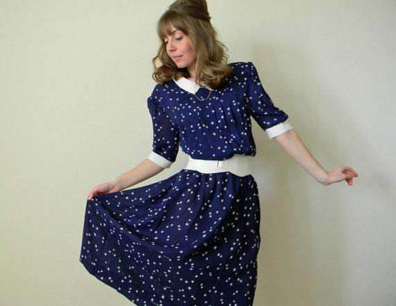 RESERVED FOR ALEXA Vintage Star Print Dress