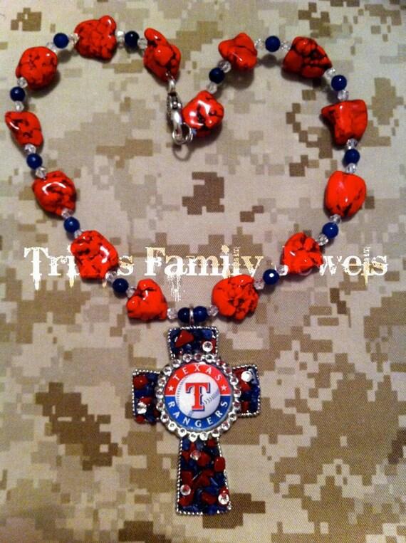 Texas Rangers Necklace