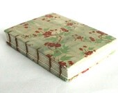 Hardcover Journal - Japenese Pattern Cover - Coptic Journal - Green 4.5 x 5.75 Journal by The Orange Windmill on Etsy