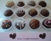 12 ct. CAKE TRUFFLE SAMPLER Cake Truffles, Cake Balls, Cake Pops - Only 28.95 dollars including shipping per dozen box