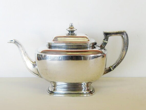 Vintage Reed & Barton Teapot, Silver Plated Tea or Coffee Pot
