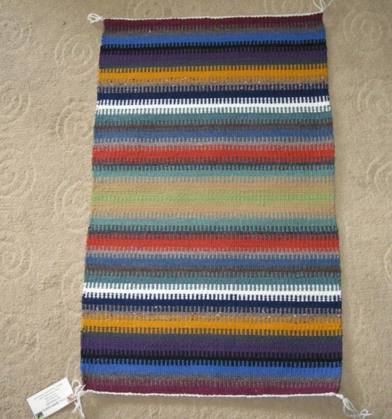 hand woven wool throw rug