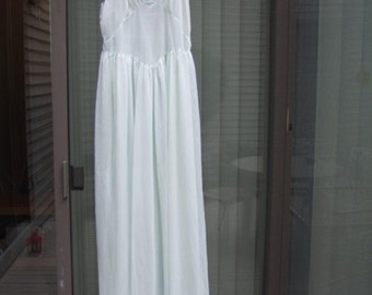 Hand made nightgown by Kristina circa 1930/1940's pale blue must see