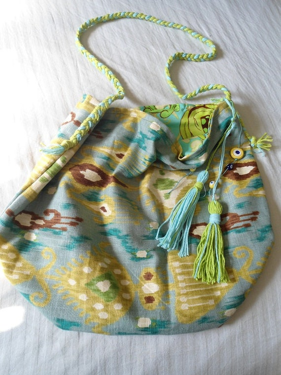SALE-- GYPSY- IKAT Large Beach Tote