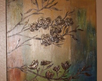 Colors of Fall Canvas Painting, Floral Canvas Painting, Canvas Paintings