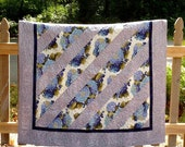 Hydrangea Quilt, Lap Quilts, Patchwork Quilts, Beautiful Soft Blue & White, Hydrangea Flower Art, Decorator's Elegant Accent Piece