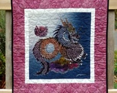 Chinese Dragon Quil, Wall Hanging Art, Year of the Dragon 2012, Small Quilts On Sale, Asian Inspired Home Decor, Great Gifts