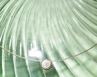 Vintage Diamond 14K Gold Necklace