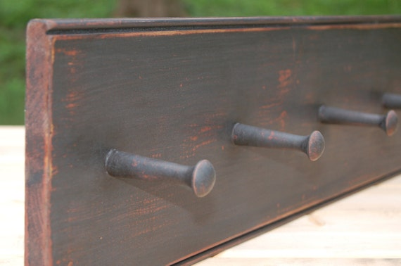 Primitive Peg Rack in Black