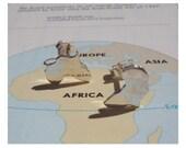 Africa Studs Silver Africa Studs Silver Africa Continent Earrings Africa Map Studs Africa Ear Studs - Sterling Silver (925)