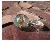 Sterling Silver Funky Swirl Marble Ring (925)