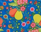 Fruit and Flower on Blue from Tradewinds line by Moda