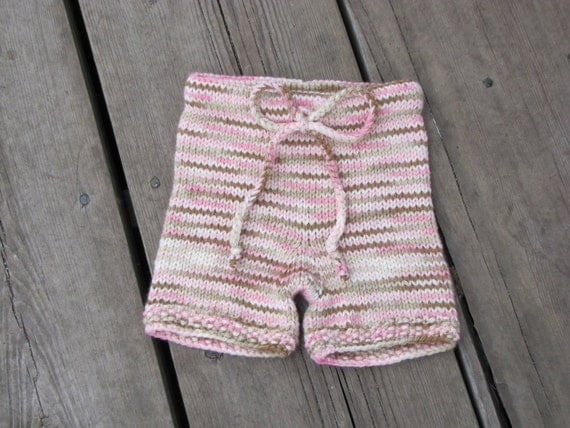 Small hand knit wool shorties