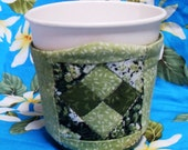 Save a Tree-Light Green Quilted Coffee Cup Holder