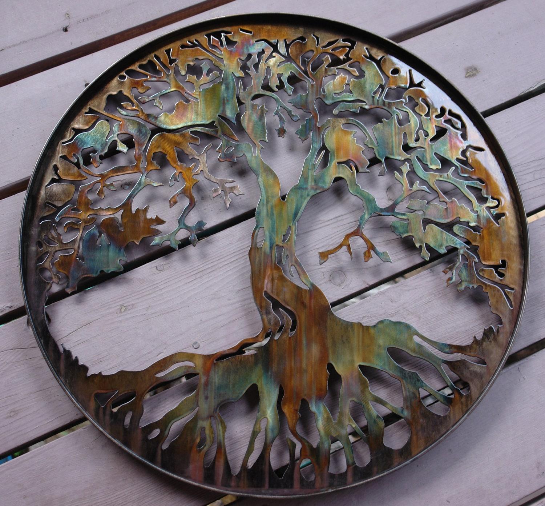 Metal Wall Decor Etsy : Tree of life metal wall decor by heavensgatemetalwork on etsy