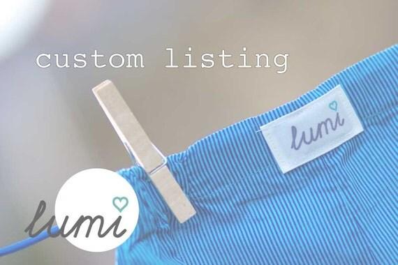 Custom Order for Nicole - Pyjama Bottoms - 3 pairs