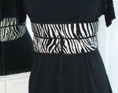 African and Zebra Print Quilted Reversible Belt