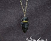 Black Arrowhead Necklace