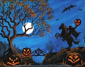 Custom Print 20x28 Halloween Photo Art Print HEADLESS HORSEMAN by K. Graham or Choose Any Design From My Shop