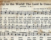 Joy to the World Christmas Sheet Music Christian Hymn Hymnal Digital Download Image Vintage Clipart Scan Graphic vs0087