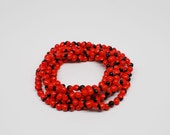 Bright red and black necklace