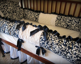 Baby Bedding Crib Set Black White