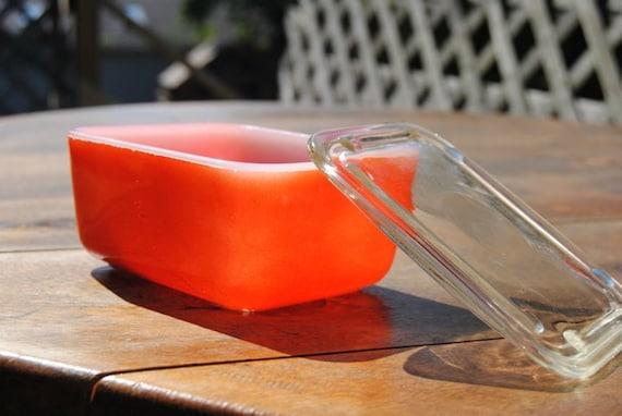 Red Pyrex Fridge/Freezer dish
