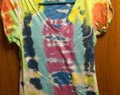 Bright Tie Dyed Tee Shirt