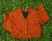 Vintage Orange Jacket. w/ pattern. Autumn