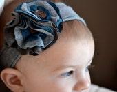 Blue Jean Baby Jersey Headband