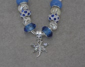 Royal Blue European Style Charm Bracelet