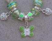 Pale Green Girl's European Style Charm Bracelet