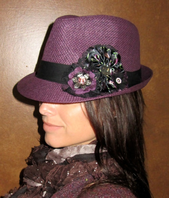 Fedora Grey Mallory Vintage Men's Hat with Black Band ...  |Blue Black Band Fedora