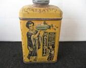 Vintage Massatta, Lazell Perfumer Talcum Powder Tin