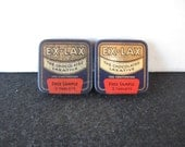 Vintage 2  Ex-Lax Chocolated Laxative Metal Sample Tins