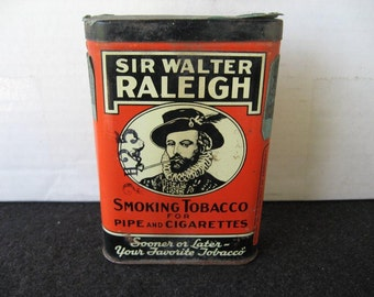 Vintage Sir Walter Raleigh Tobacco Pocket Tin