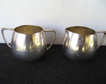 "Vintage Silverplate ""Empire Craft"" Quadruple Plate Creamer & Sugar"