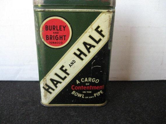 Vintage Half and Half Tobacco Pocket Tin