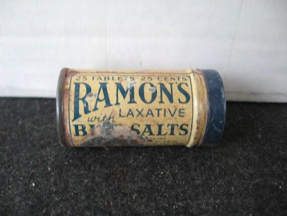 Vintage Ramon's Bile Salts The Little Doctor Tin