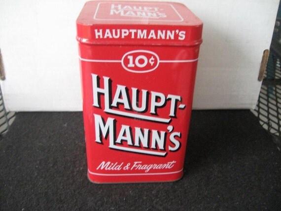 Vintage Collectible Haupt-Mann's Cigar Tin