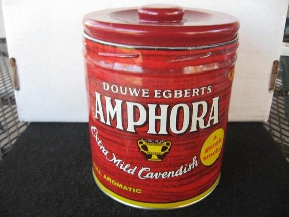 Vintage  Round Amphora Tobacco Tin