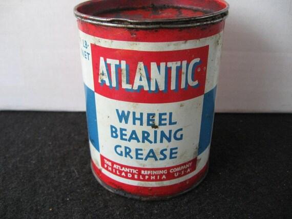 Vintage Atlantic Wheel Bearing Grease Tin